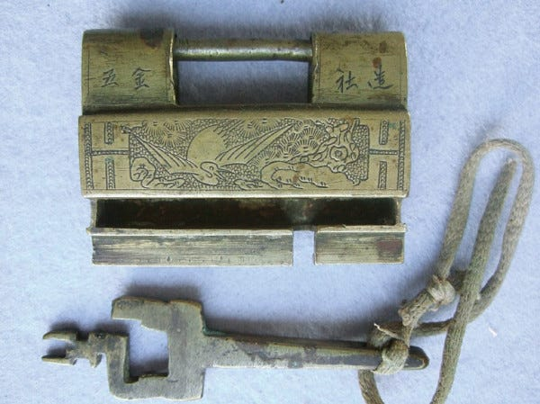 Picture of Antique Chinese Lock