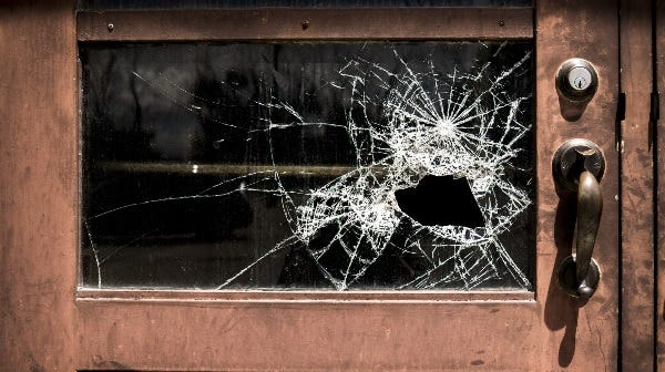 Picture of broken window