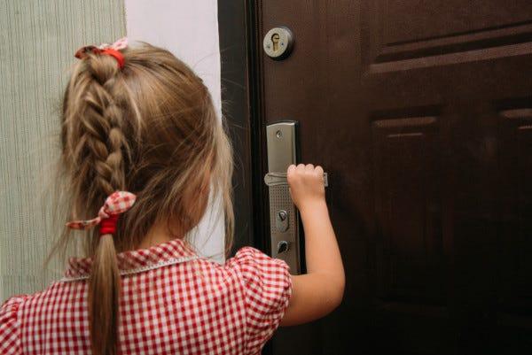 Picture of child check door handle