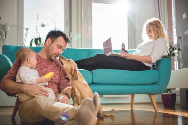 Picture of family at home