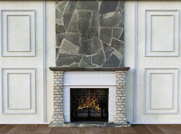 Picture of a fireplace