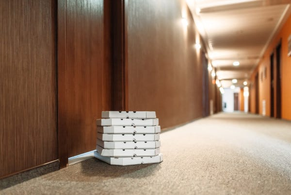 Picture of Delivery Boxes Outside Apartment Door