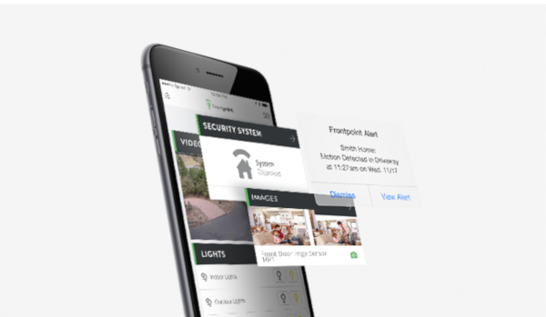 Picture of the Frontpoint Mobile App