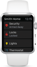 Picture of the Home Security Features on the Apple Watch