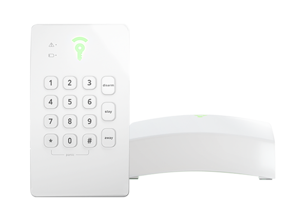 Picture of the Frontpoint Hub and Keypad