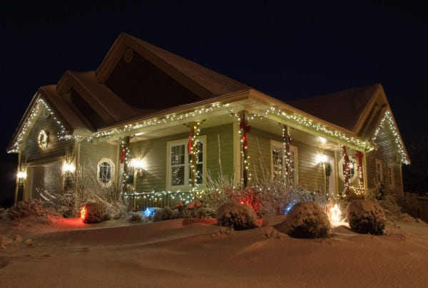 Picture of outdoor holiday decorations