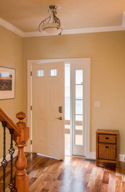 Picture of open front door
