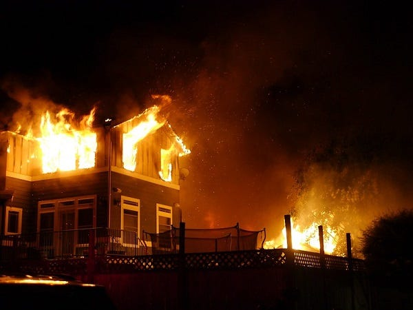 Picture of Home on Fire