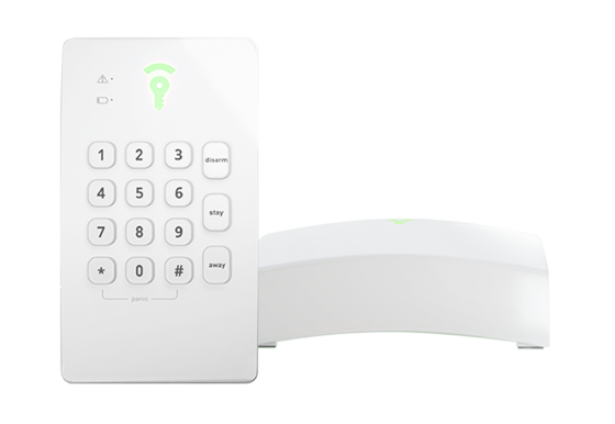 Picture of the Frontpoint Hub + Keypad
