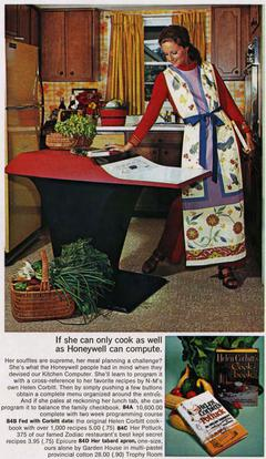 Picture of 1960s advertisment for the Kitchen Computer