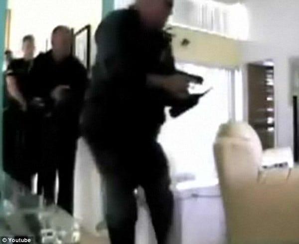 Security camera screen shot of burglary