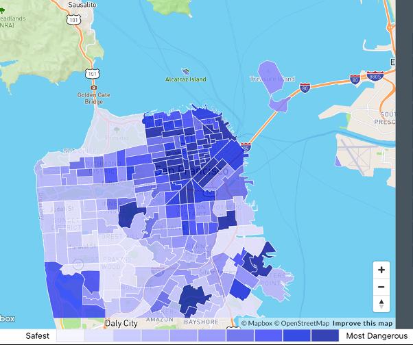Map of San Francisco, CA Crime