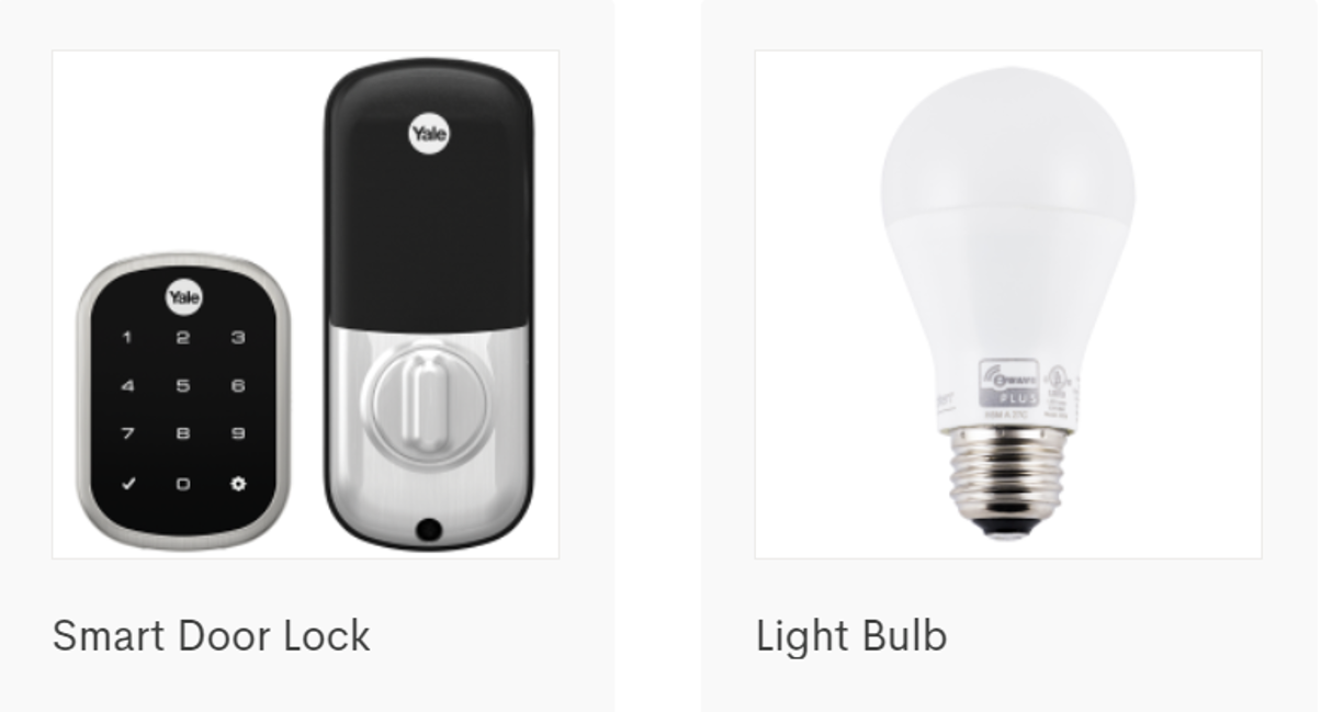Picture of Frontpoint Smart Door Lock and Light Bulb