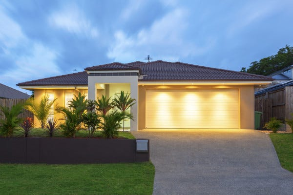 Picture of Well Lit Home at Dusk