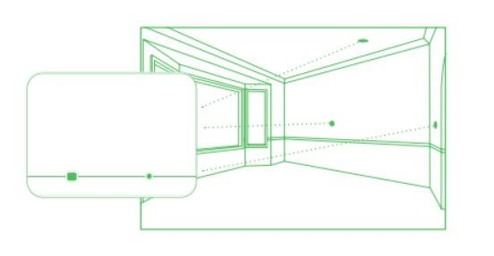 Diagram of glass break sensor placement